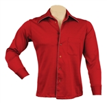 Elvis Presley Owned & Worn Custom Made Red Shirt