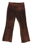 Elvis Presley Owned & Worn Brown Suede Flared Pants