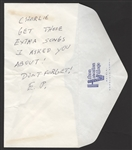 Elvis Presley Handwritten & Signed Note to Charlie Hodge