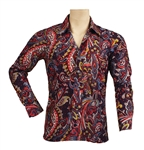 Elvis Presley Owned & Worn Early 1970s Long Sleeved Paisley Shirt