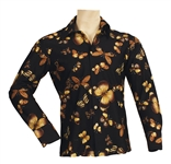 Elvis Presley Owned & Worn 1970s Butterfly Print Long Sleeved Shirt