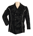 Elvis Presley Owned & Worn Custom Made Black Crushed Velvet Double Breasted Jacket