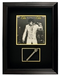 Elvis Presley Stage Used Microphone With Signed & Inscribed Album Cover