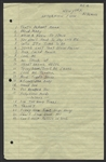 Elvis Presley Handwritten Song List
