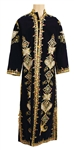 Elvis Presley Owned & Worn Elaborately Beaded and Embroidered Blue Velvet Caftan