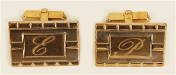 Elvis Presley Owned & Worn Cufflinks with His Initials
