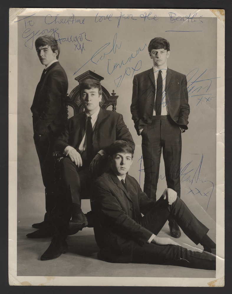 Beatles signed photo value The Beatles Memorabilia: Autographed Albums Signed Instruments