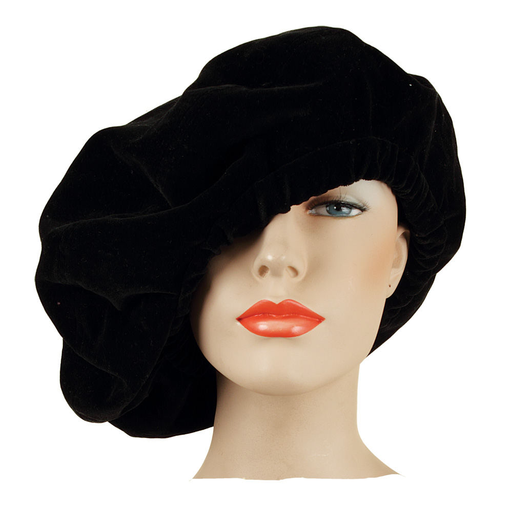 ce92b871a75e9 Lot Detail - Stevie Nicks Owned   Worn Black Velvet Beret