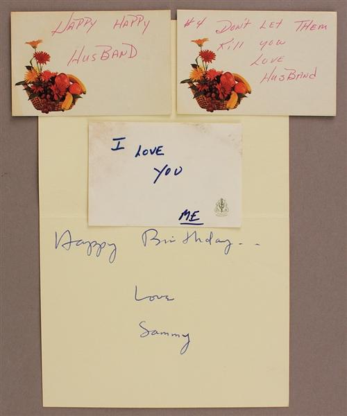 Lot Detail Sammy Davis Jr Handwritten Signed Birthday Card
