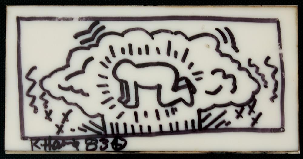 Lot Detail Keith Haring Signed Original Subway Tile Artwork