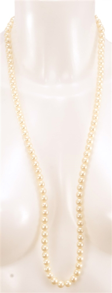 Madonna Truth or Dare Film Worn Faux Pearl Necklace
