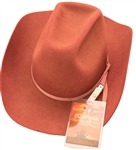 Madonna 2011 Roseland Ballroom Stage Worn Stetson Cowboy Hat and Personal Drowned World Tour Laminate