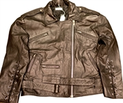 Madonna Custom Made Andre Van Pier Custom Made Leather Jacket Worn for Steven Meisel Photo Shoot