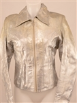 "Michelle Pfeiffer ""Grease 2"" Film Worn Silver Motorcycle Jacket"