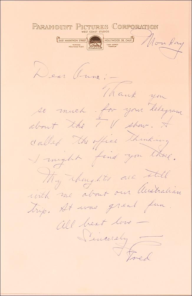 Cheap Sale Stanley Kramer Signed Letter Entertainment Memorabilia