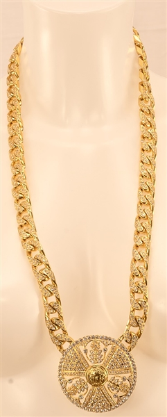 "Madonna ""Music"" Video Production Used Donatella Versace Metal Necklace"