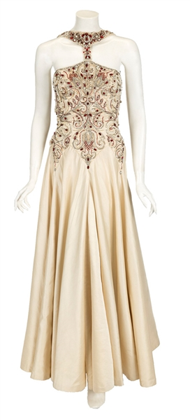 "Madonna Evita Film Worn Inaugural Ball Gown From Musical Number ""High Flying, Adored"""