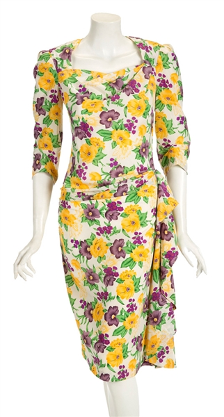 "Madonna Evita Film Worn Floral Dress From Musical Number ""Rainbow High"