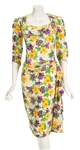 "Madonna ""Evita"" Film Worn Floral Dress From Musical Number ""Rainbow High"""