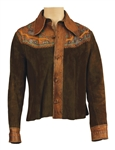 Elvis Presley Owned & Worn Painted Leather & Suede Jacket