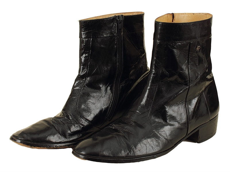 Elvis Presley Stage Worn Black Patent Leather Boots
