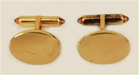 Elvis Presley Owned and Worn Gold Cufflinks