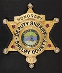 Elvis Presleys Personally Owned Honorary Shelby County Deputy Sheriff's Badge
