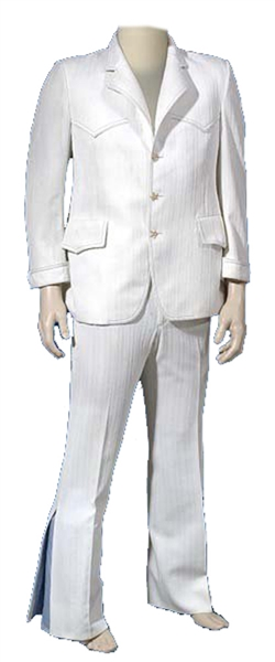 Elvis Presley 1969 Owned and Worn Two-Piece White Dinner Suit