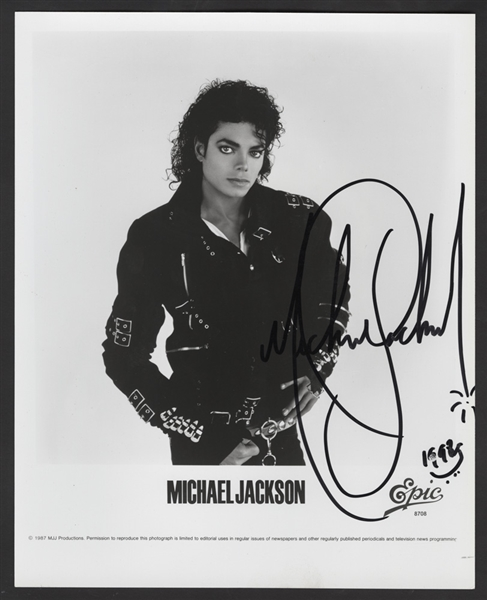 Michael Jackson Personally Owned Signed Portrait Photograph Given to His Nephew