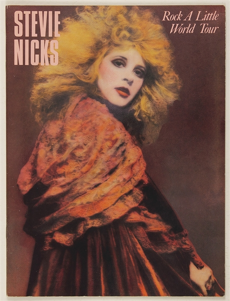 Stevie Nicks Original Rock A Little World Tour Concert Program from the Herbert Worthington Estate