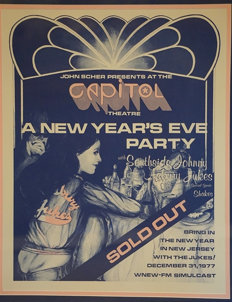 Southside Johnny and the Asbury Jukes New Years Eve 12-31-77 Original Concert Poster