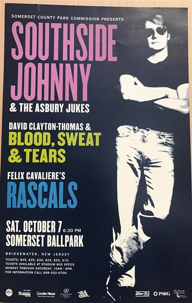 Southside Johnny and the Asbury Jukes 1977 Original Concert Poster