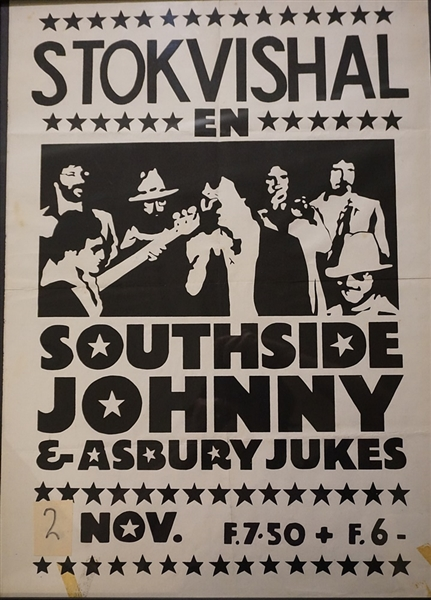 Southside Johnny and the Asbury Jukes Stokvishal in the Netherlands 1977 Original Concert Poster