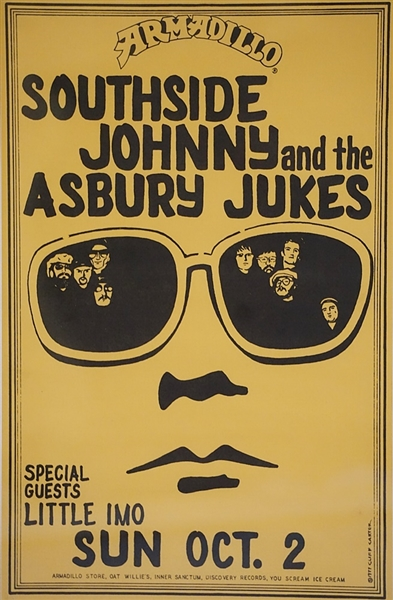 Southside Johnny Signed Southside Johnny and the Asbury Jukes Original 1978 College Concert Poster
