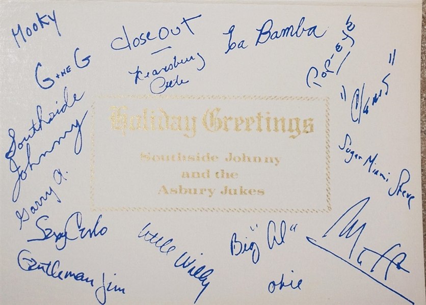 Southside Johnny and the Asbury Jukes Signed Original Christmas Card
