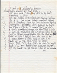 "Tupac Shakur Handwritten ""Fuck Friendz"" Lyrics"