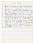 "Tupac Shakur Handwritten ""Niggaz Nature"" Lyrics"