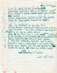 "Tupac Shakur Handwritten ""Smile"" Lyrics"