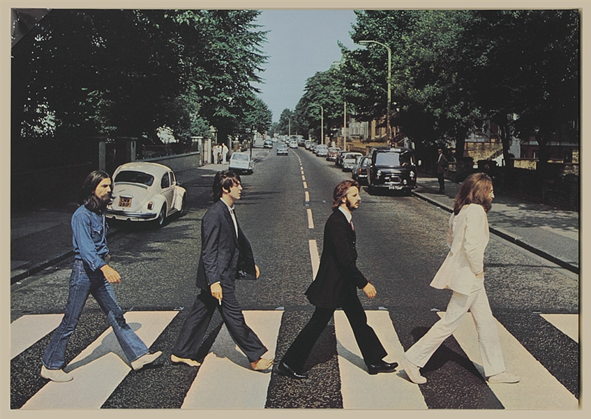 The Beatles Abbey Road Album Cover Canvas Picture