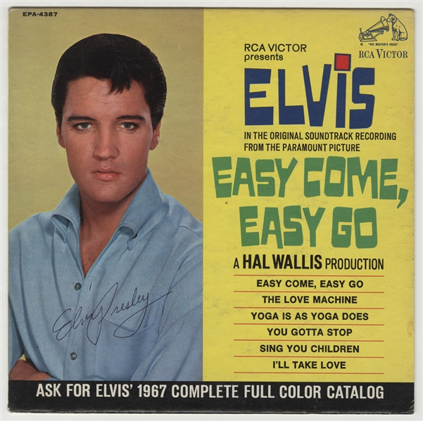 Elvis Presley Signed Easy Come, Easy Go 45 E.P. Record