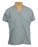 Michael Jackson Owned & Worn Blue Surgical Scrubs