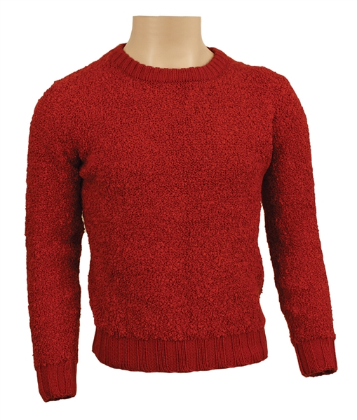 Michael Jackson Owned & Worn Red Knit Sweater