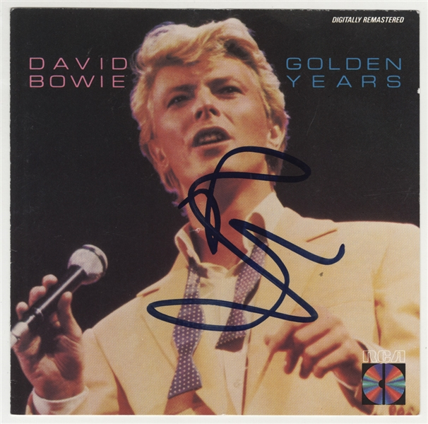 "David Bowie Signed ""Golden Years"" C.D. Insert"