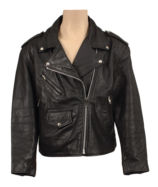 INXS Michael Hutchence Owned & Worn Black Leather Motorcycle Jacket