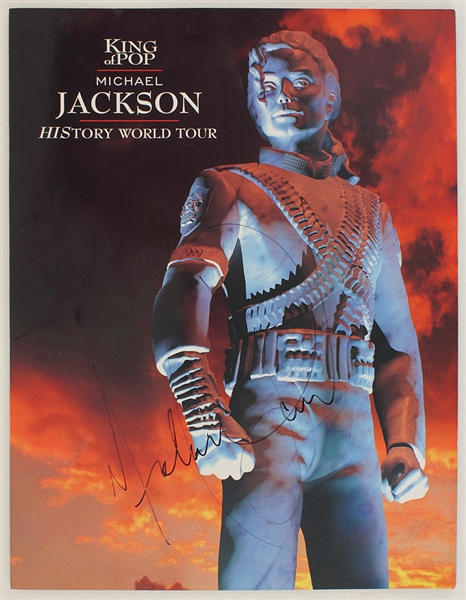 "Michael Jackson Signed ""HIStory World Tour"" Concert Program"