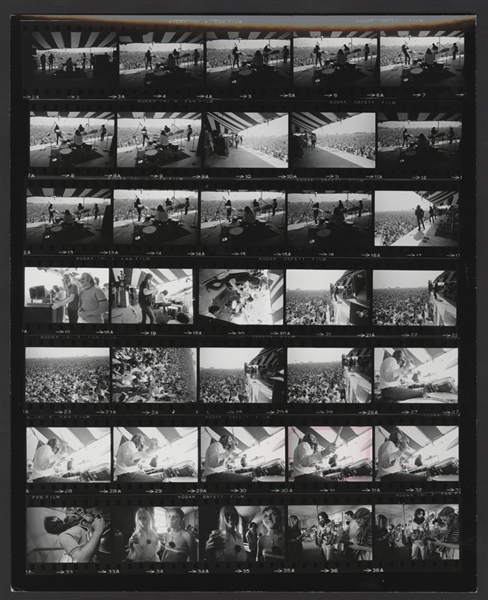Grateful Dead Jerry Garcia Original Jim Marshall Stamped Monterey Pop Festival Contact Sheet