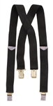 Michael Jackson Stage Worn Black Suspenders With Swarovski Crystals