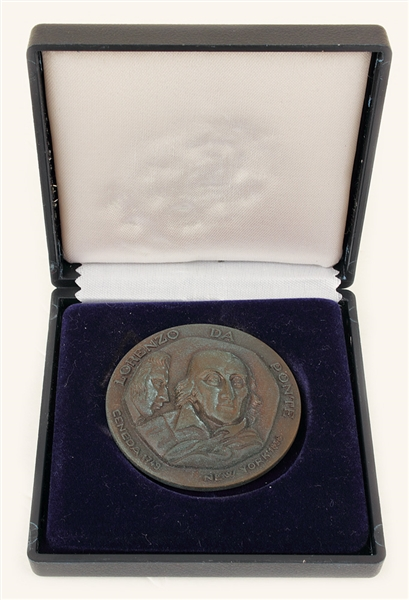 Sammy Davis, Jr. Owned Lorenzo Da Ponte Medal With Box