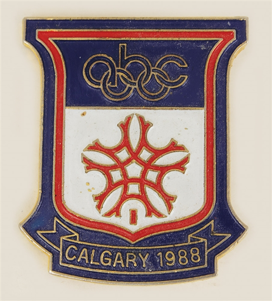 Sammy Davis, Jr. Owned Calgary 1988 Olympics ABC Pin