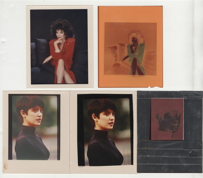 Vintage 1980's/90's TV Actresses Original Photograph and Negative Collection